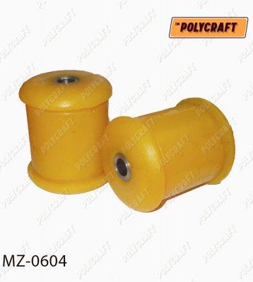 Поліуретановий сайлентблок важеля переднього нажнього зігнутого (встановлювати в обойму старого сайлентблока)   mz0604