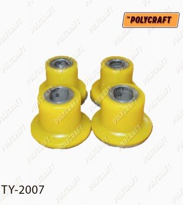 Комплект полиуретановых сайлентблоков (4 шт) рулевой рейки ty2007