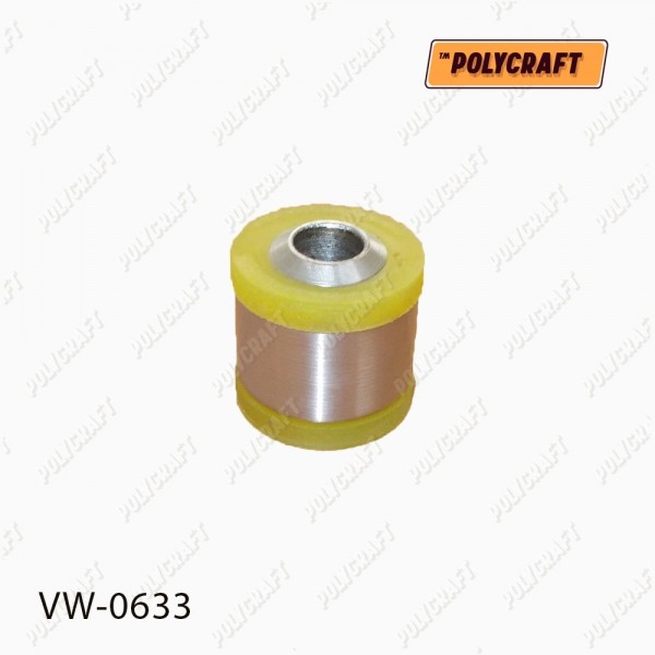 Полиуретановый сайлентблок задней нижней тяги (крепление к цапфе) Задней реактивной тяги (диагональной) (крепление к цапфе) D = 44 / D = 16 mm.