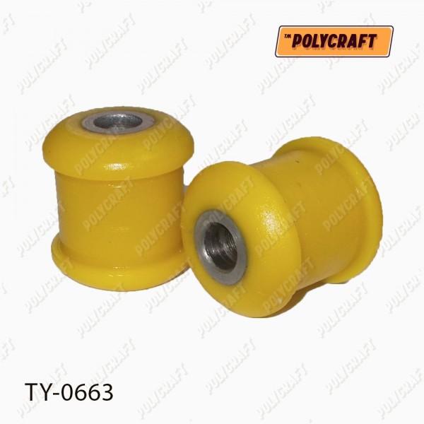 Полиуретановый сайлентблок задней подвески, верхнего изогнутого рычага (внутренний)